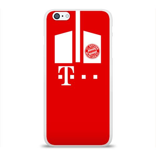 Чехол для Apple iPhone 6Plus/6SPlus силиконовый глянцевый  Фото 01, FC Bayern 2018 Original #6