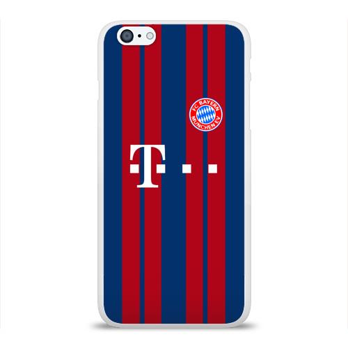Чехол для Apple iPhone 6Plus/6SPlus силиконовый глянцевый  Фото 01, FC Bayern 2018 Original #8