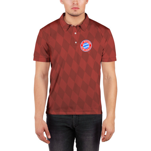 Мужская рубашка поло 3D  Фото 03, FC Bayern 2018 Original #10