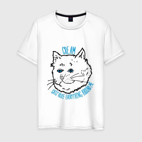 Мужская футболка хлопок C.R.E.A.M. Кошки управляют всем