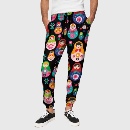 Мужские брюки 3D Матрешки Фото 01