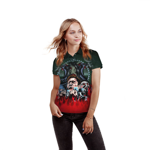 Женская рубашка поло 3D  Фото 03, The fear