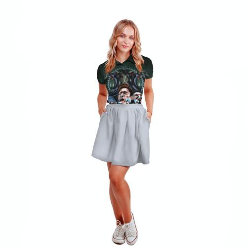Женская рубашка поло 3D  Фото 04, The fear