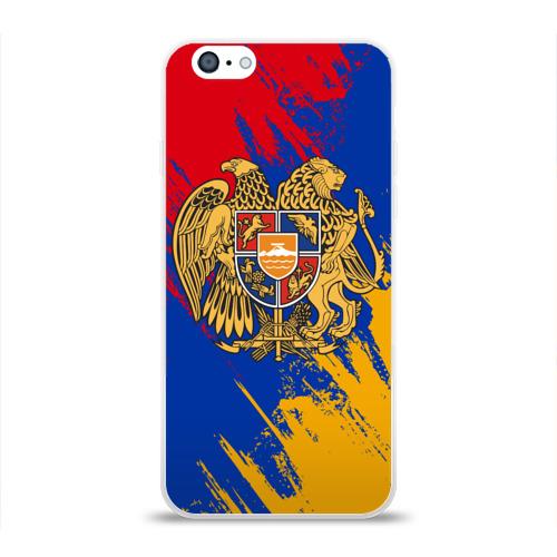 Чехол для Apple iPhone 6 силиконовый глянцевый  Фото 01, Герб и флаг Армении