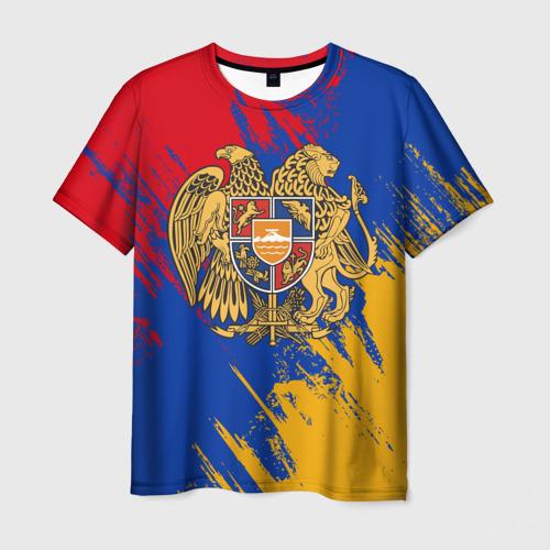 Мужская футболка 3D  Фото 01, Герб и флаг Армении