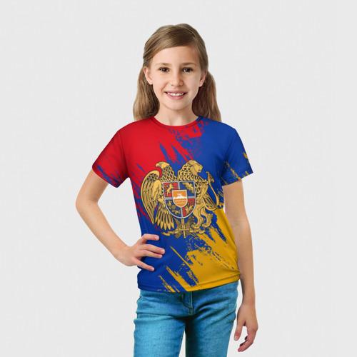 Детская футболка 3D  Фото 03, Герб и флаг Армении