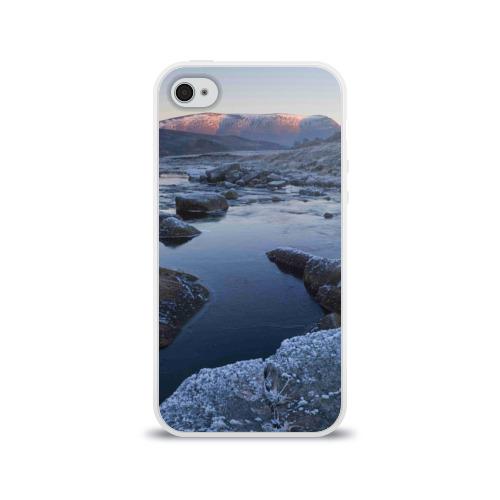 Чехол для Apple iPhone 4/4S силиконовый глянцевый  Фото 01, Зимняя природа