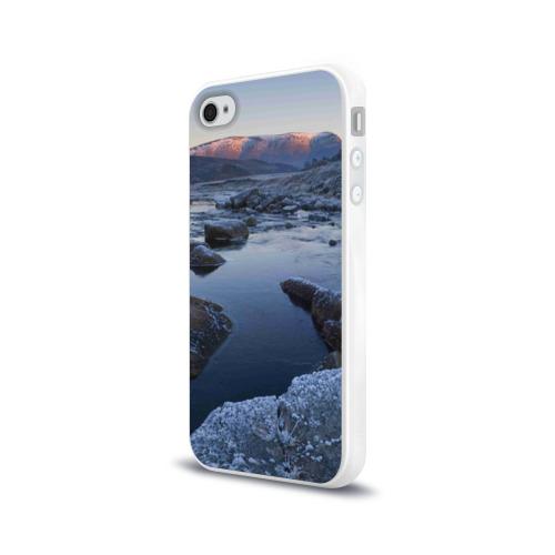 Чехол для Apple iPhone 4/4S силиконовый глянцевый  Фото 03, Зимняя природа