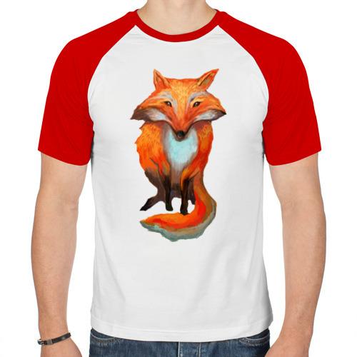 Мужская футболка реглан  Фото 01, Нарисованная лиса