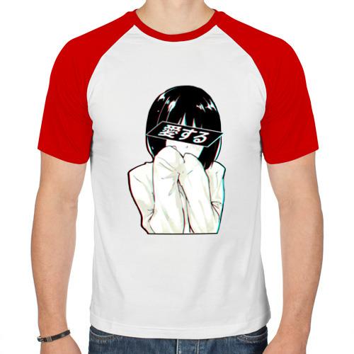 Мужская футболка реглан  Фото 01, LOVE (Japanese)