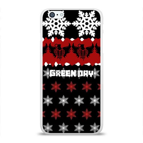 Чехол для Apple iPhone 6Plus/6SPlus силиконовый глянцевый  Фото 01, Праздничный Green Day