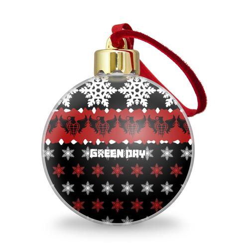 Ёлочный шар с блестками  Фото 01, Праздничный Green Day
