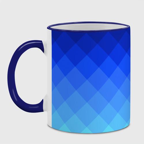 Кружка с полной запечаткой Blue geometria Фото 01