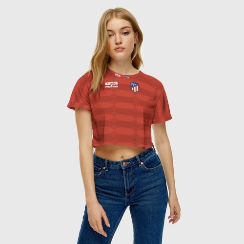 Женская футболка 3D укороченная  Фото 04, Atletico Madrid Original #10