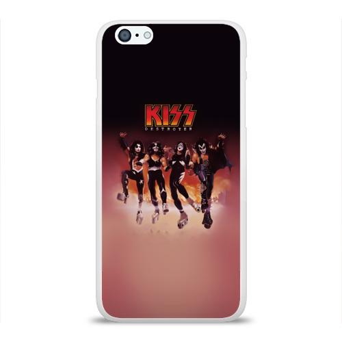 Чехол для Apple iPhone 6Plus/6SPlus силиконовый глянцевый  Фото 01, Группа Kiss