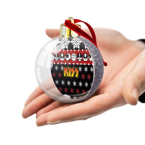 Ёлочный шар с блестками  Фото 03, Праздничный Kiss