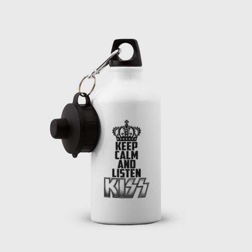 Бутылка спортивная  Фото 03, Keep calm and listen Kiss