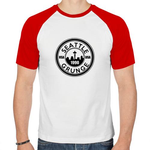 Мужская футболка реглан  Фото 01, Гранж (Grunge)