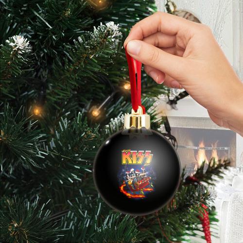 Ёлочный шар с блестками  Фото 04, Merry KISSmas!