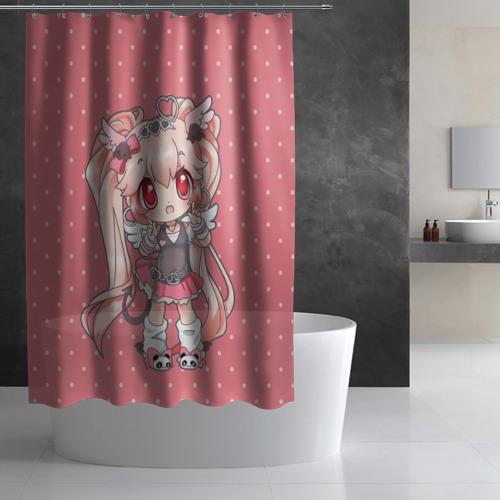 Штора 3D для ванной  Фото 02, Девочка