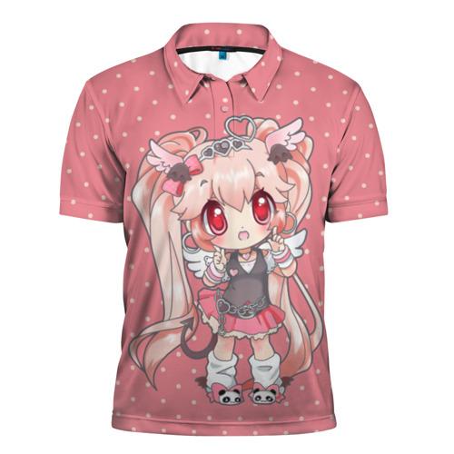 Мужская рубашка поло 3D  Фото 01, Девочка