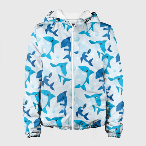 Женская куртка 3D  Фото 01, Акулы