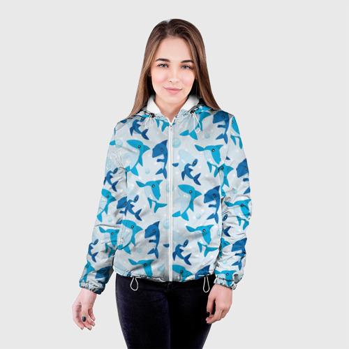 Женская куртка 3D  Фото 03, Акулы