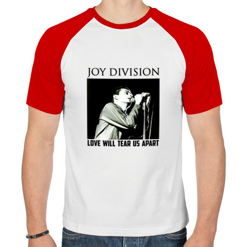 Мужская футболка реглан  Фото 01, LOVE  WILL  TEAR  US  APART