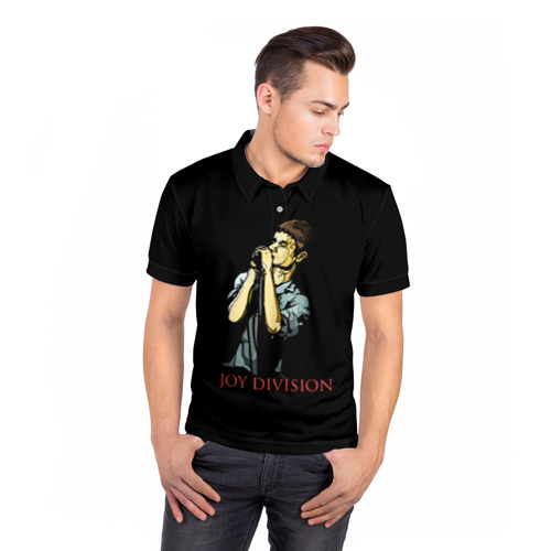 Мужская рубашка поло 3D Joy Division Фото 01