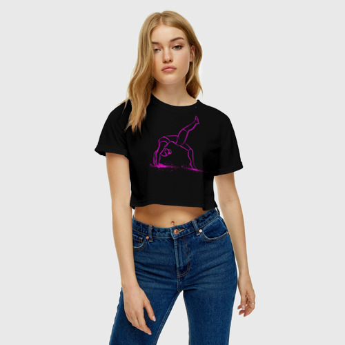 Женская футболка 3D укороченная  Фото 04, athletics