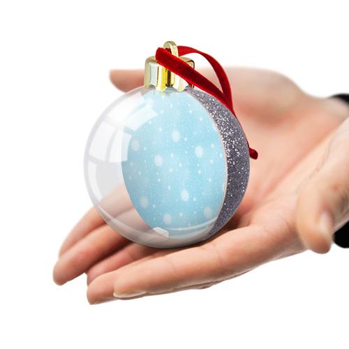 Ёлочный шар с блестками  Фото 03, Снежинки