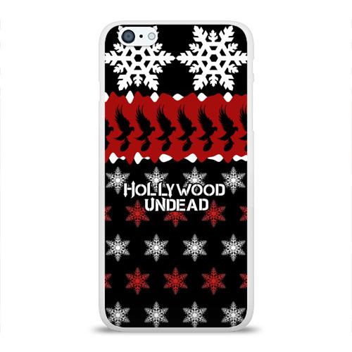 Чехол для Apple iPhone 6Plus/6SPlus силиконовый глянцевый  Фото 01, Праздничный Hollywood Undead