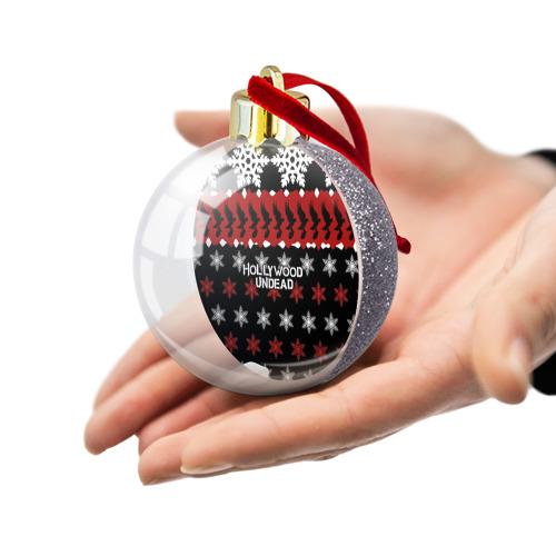 Ёлочный шар с блестками  Фото 03, Праздничный Hollywood Undead
