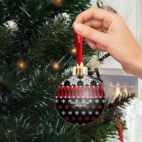 Ёлочный шар с блестками  Фото 04, Праздничный Hollywood Undead