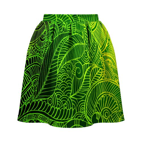 Юбка-солнце 3D  Фото 02, зеленые узоры