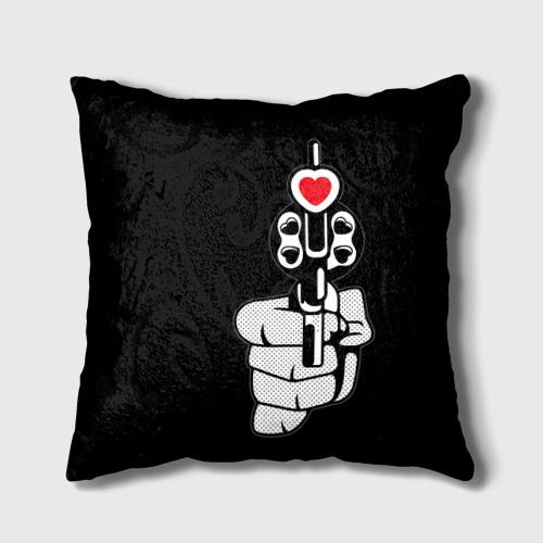 Подушка 3D  Фото 01, Любовь с первого выстрела