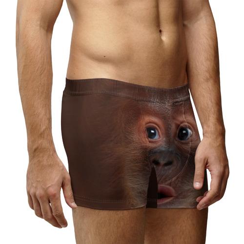 Мужские трусы 3D Орангутанг BigFace Фото 01