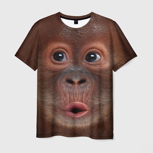 Мужская футболка 3D Орангутанг BigFace