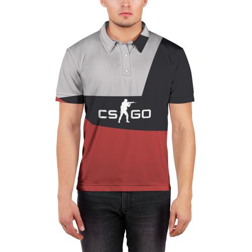Мужская рубашка поло 3D  Фото 03, CS GO