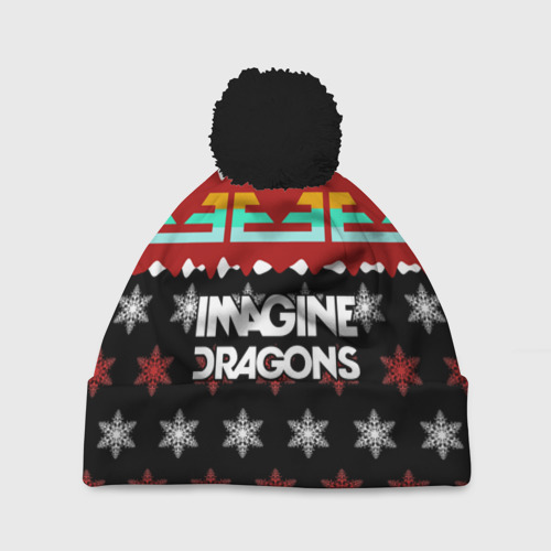 Шапка 3D c помпоном Праздничный Imagine Dragons
