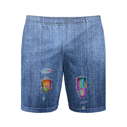 Мужские шорты 3D спортивные Рваные джинсы