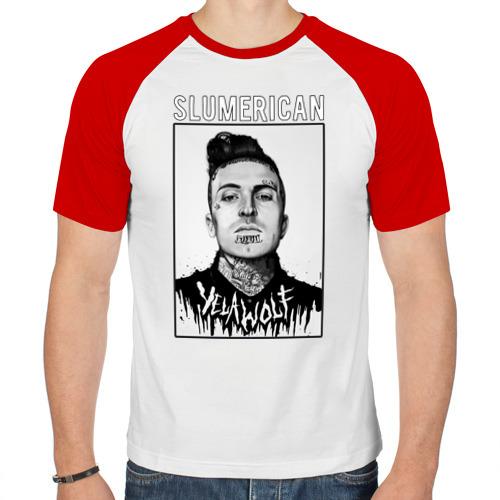 Мужская футболка реглан  Фото 01, Slumerican IV Yelawolf