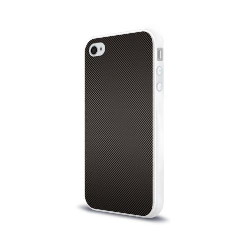 Чехол для Apple iPhone 4/4S силиконовый глянцевый  Фото 03, Carbon-2