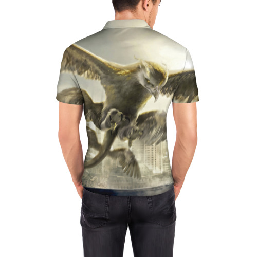 Мужская рубашка поло 3D  Фото 04, Птица-гром