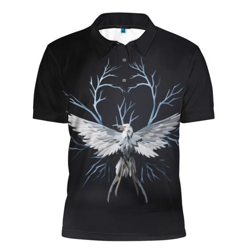 Мужская рубашка поло 3D Птица-гром