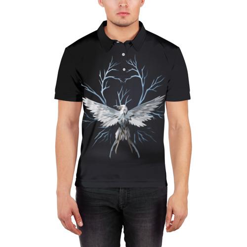 Мужская рубашка поло 3D  Фото 03, Птица-гром