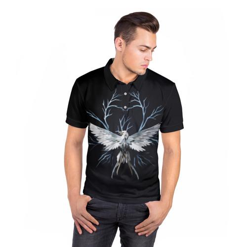 Мужская рубашка поло 3D  Фото 05, Птица-гром