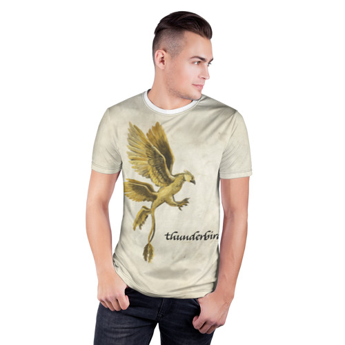 Мужская футболка 3D спортивная  Фото 03, Птица-гром