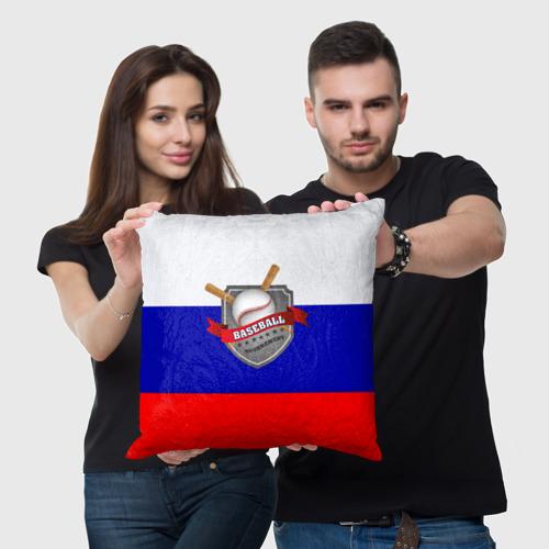 Подушка 3D  Фото 05, Бейсбол Россия