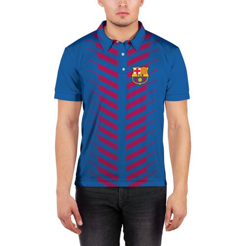 Мужская рубашка поло 3D  Фото 03, FC Barcelona 2018 Creative